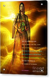 Acrylic Print featuring the digital art Hopi Prophecy by Shadowlea Is