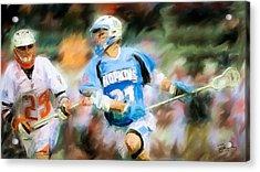 College Lacrosse Midfielder Acrylic Print by Scott Melby