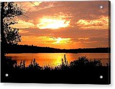 Horn Pond Sunset 2 Acrylic Print