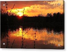 Horn Pond Sunset 8 Acrylic Print
