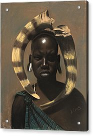 Horn Seller Acrylic Print by L Cooper