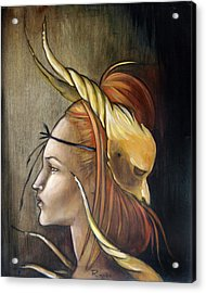 Horned Beast Acrylic Print by Jacque Hudson