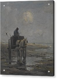 Horse And Cart Acrylic Print by Evert Pieters