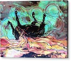 Horse Born Of Earth Water Sky Acrylic Print by Carol Law Conklin