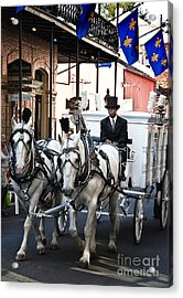 Horse Drawn Carriage Color Acrylic Print by Kathleen K Parker