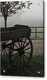 Horse Drawn In The Mist Acrylic Print by Odd Jeppesen