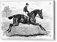 Horse Racing, 1880s Acrylic Print by Granger