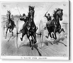 Horse Racing, 1890 Acrylic Print by Granger