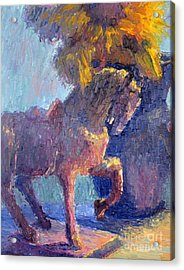 Horse Statue Acrylic Print by Terry  Chacon
