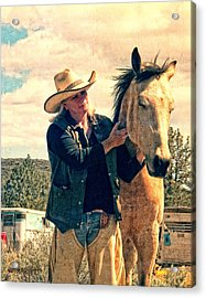 Acrylic Print featuring the digital art Horse Whisperer by Rhonda Strickland