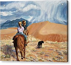 Horsefeathers Acrylic Print