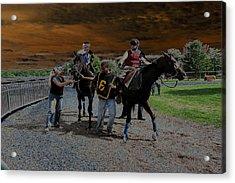 Acrylic Print featuring the digital art Horses 001 by Dorin Adrian Berbier