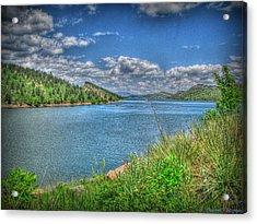 Horsetooth Reservoir Summer Hdr Acrylic Print by Aaron Burrows