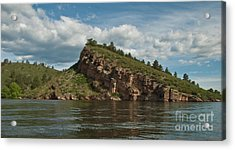 Horsetooth Reservoir View Toward Inlet Bay Acrylic Print by Harry Strharsky
