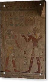 Horus Is Shown Receiving Gifts Acrylic Print by Taylor S. Kennedy