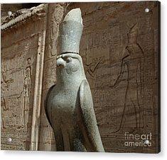 Horus The Falcon At Edfu Acrylic Print by Bob Christopher