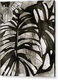 Hostas Version II Acrylic Print by Claudia Smaletz