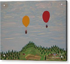Hot Air Balloons Acrylic Print by Gregory Davis