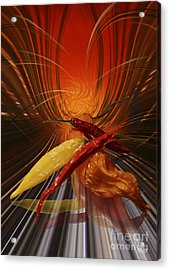 Acrylic Print featuring the digital art Hot Chilli by Johnny Hildingsson