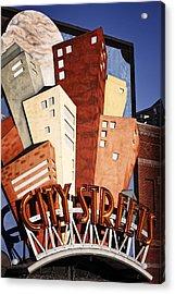 Hot City Streets Acrylic Print by Joan Carroll