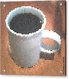 Acrylic Print featuring the digital art Hot Coffee 03 by Ana Tirolese
