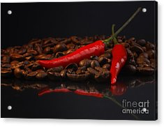 Hot Coffee Acrylic Print by Tanja Riedel