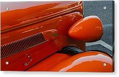 Hot Rod Orange Acrylic Print by Ken Stanback