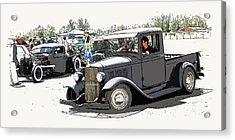 Hot Rod Show Trucks Acrylic Print by Steve McKinzie