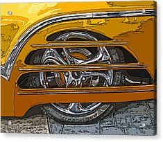 Hot Rod Wheel Cover Acrylic Print
