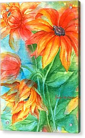 Hot Summer Flowers Acrylic Print