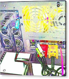 Hot Wired - Pop Art Techno #abstract Acrylic Print