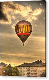 Hotair Acrylic Print by Barry R Jones Jr