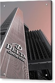 Hotel Delta - Montreal Acrylic Print by Juergen Weiss