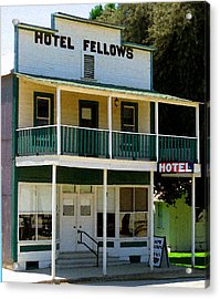 Hotel Fellows 2 Acrylic Print by Timothy Bulone