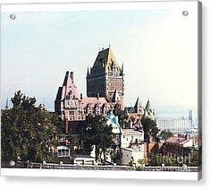 Hotel Frontenac Quebec Canada Acrylic Print by Cedric Hampton