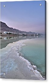 Hotel On The Shore Of The Dead Sea Acrylic Print by Noam Armonn