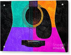 Hour Glass Guitar 4 Colors 2 Acrylic Print by Andee Design