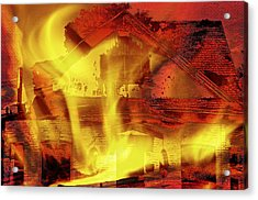 House Fire Illustration 2 Acrylic Print by Steve Ohlsen