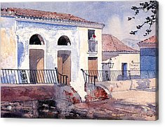 House In Santiago Acrylic Print by Winslow Homer