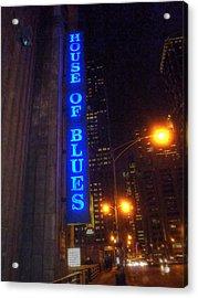 House Of Blues Acrylic Print by Barry R Jones Jr