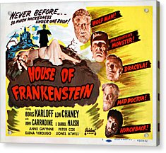 House Of Frankenstein, 1950 Re-issue Acrylic Print by Everett