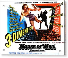House Of Wax, 1953 Acrylic Print by Everett