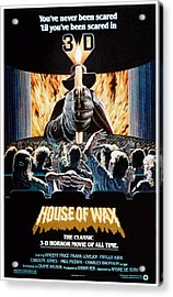 House Of Wax, Reissue Poster Art, 1953 Acrylic Print by Everett