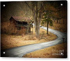 House On A Curve Acrylic Print by Joyce Kimble Smith