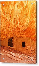 House On Fire Portrait 1 Acrylic Print by Bob and Nancy Kendrick