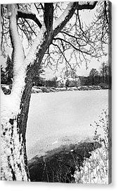 House On Frozen Lake Acrylic Print by Ercole Gaudioso