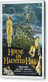 House On Haunted Hill, Alternate Poster Acrylic Print by Everett