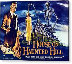 House On Haunted Hill, Left Vincent Acrylic Print by Everett