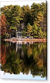 House On The Lake Acrylic Print by John Rizzuto