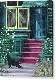House With A Blue Door  Acrylic Print